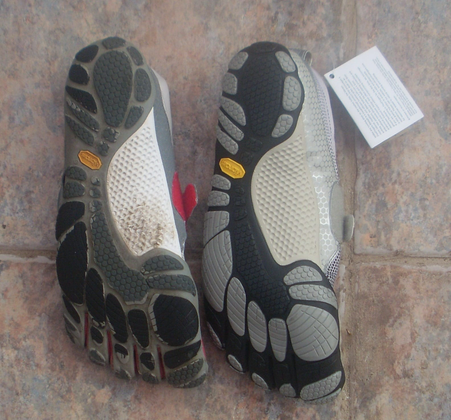 The Ugly Sister: Vibram soles should never wear out so soon. Nor should the TC1 rubber change colour