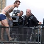 David Beckham in his underpants and Vibram FiveFingers on is shoot for H&M