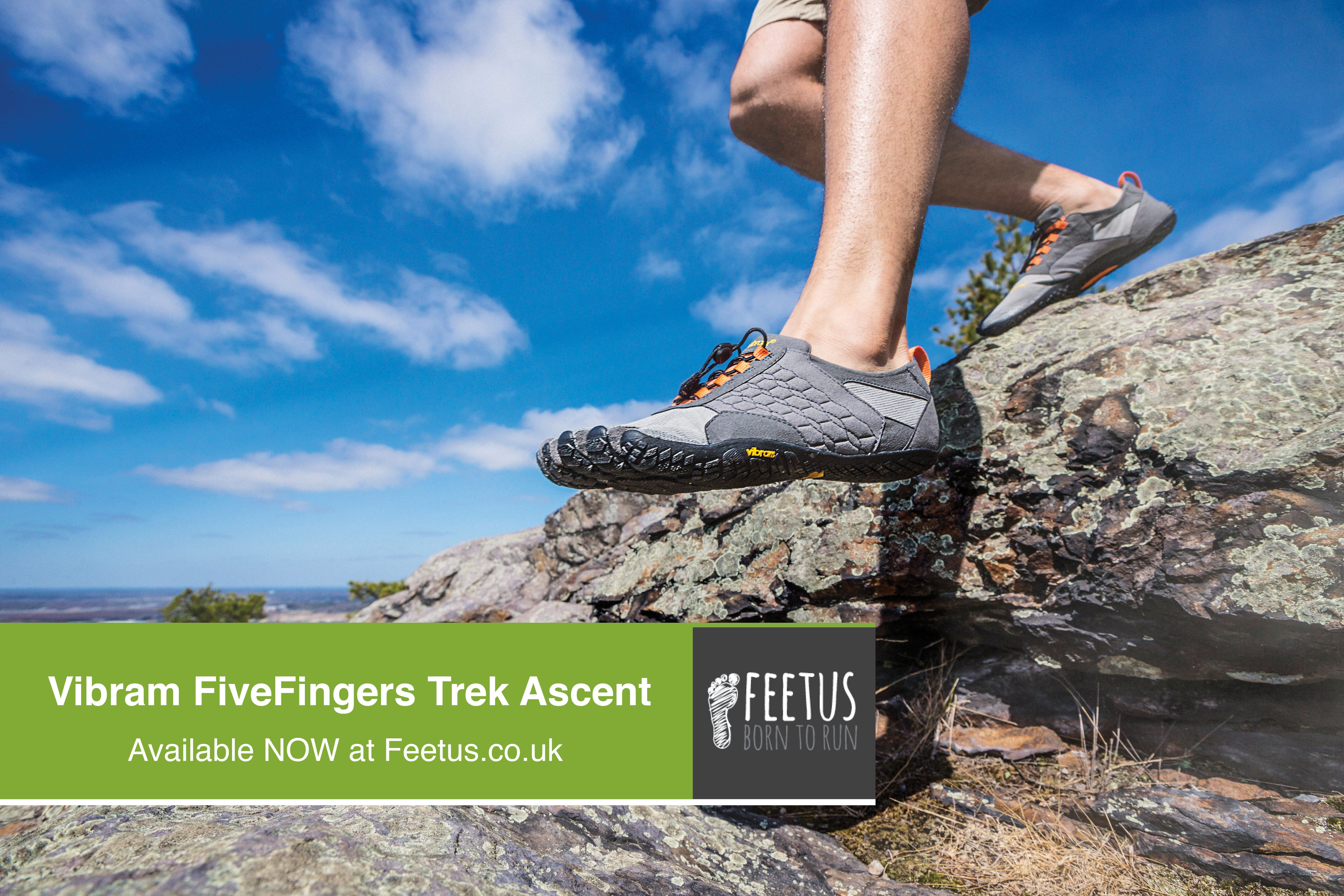 Vibram Fivefingers Trek Ascent. Off-Road and Trail Running Shoes. Available at Feetus.co.uk