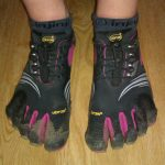Colour-Coordinated: Injinji Womens Socks in Vibram FiveFingers KMD Sport LS