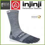 Injinji NuWool OUTDOOR Crew Toe Socks