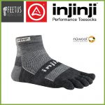 Injinji NuWool OUTDOOR Mini Crew Toe Socks