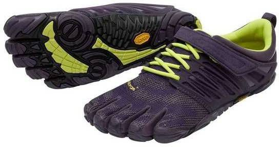 Vibram FiveFingers Womens V-TRAIN Minimalist Training Shoe (Nightshade/Safety Yellow)