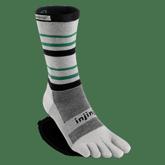 Injinji RUN Lightweight Crew Running Toe Socks (Emerald)