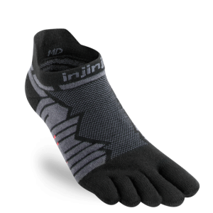 Injinji Ultra Run No-Show Running Toe Socks (Onyx)