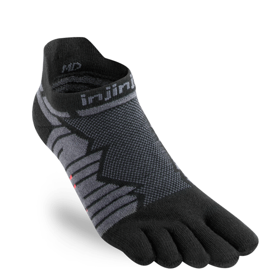 Injinji Ultra Run No-Show Running Toe Socks (Onyx)