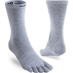 Injinji Liner Lightweight Coolmax Crew Toe Socks (Heather Grey) - Dual