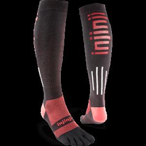 Injinji Ultra Compression OTC Toe Socks (Black) - Dual