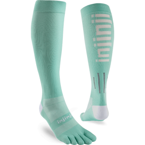 Injinji Womens Ultra Compression OTC Toe Socks (Jade) - Dual
