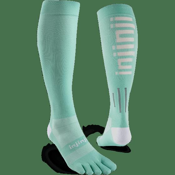Injinji Womens Ultra Compression OTC Toe Socks (Jade) - Dual
