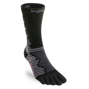 Injinji Ultra Run Crew Running Toe Socks (Obsidian)