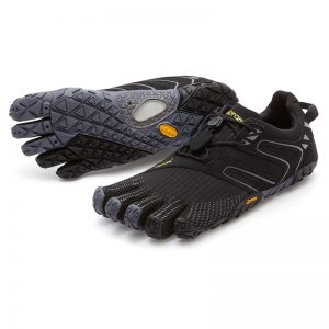 Vibram Fivefingers Womens V-Trail Minimalist Running Shoes (Black/Grey)