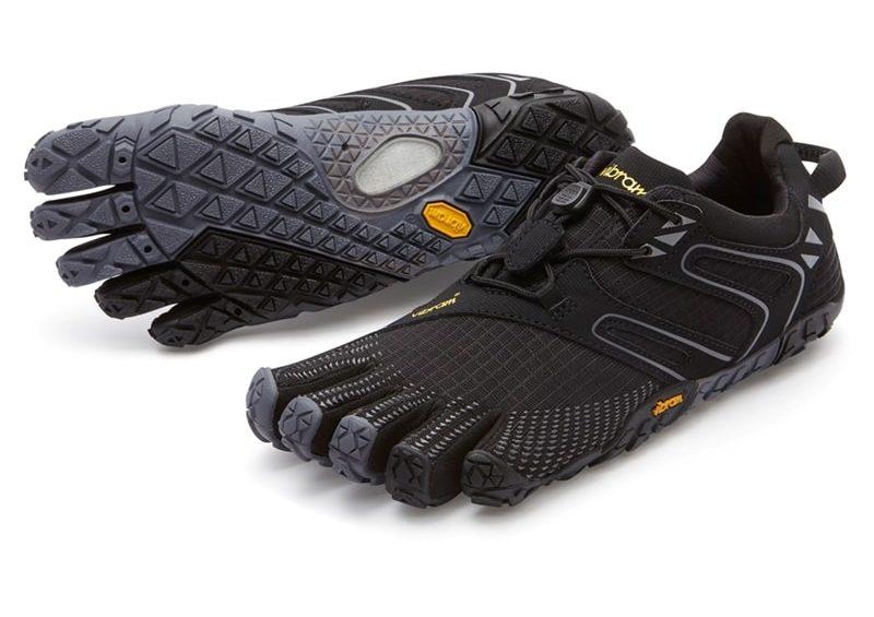Vibram Fivefingers Womens V-Trail Minimalist Running Shoes (Black/Grey)