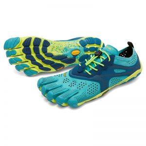 Vibram FiveFingers Womens V-Run Minimalist Running Shoes (Teal/Navy)