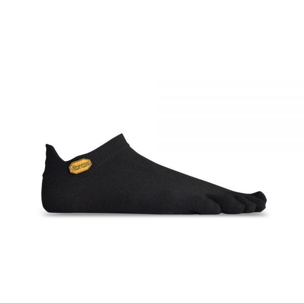 Vibram 5TOE Athletic No Show Toe Socks (Black)