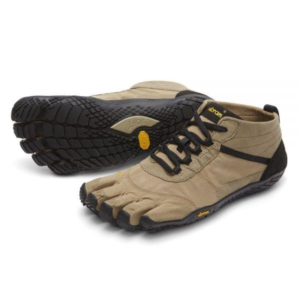 Vibram FiveFingers Mens V-Trek Outdoor Minimalist Shoes (Khaki/Black)