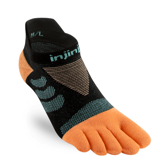 Injinji Womens Ultra Run No-Show Toe Running Socks (Tide)