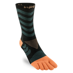 Injinji Womens Ultra Run Crew Toe Running Socks (Dive)