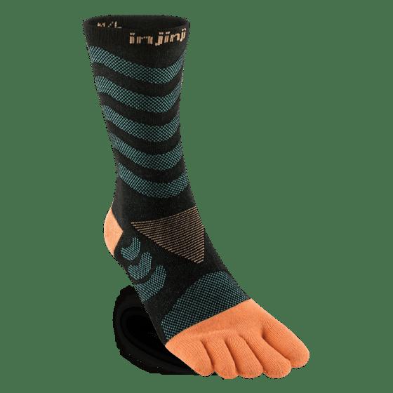 Injinji Womens Ultra Run Crew Toe Running Socks (Dive)