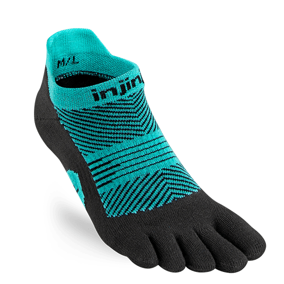 Injinji Womens RUN Lightweight No-Show Running Toe Socks (Jewel)
