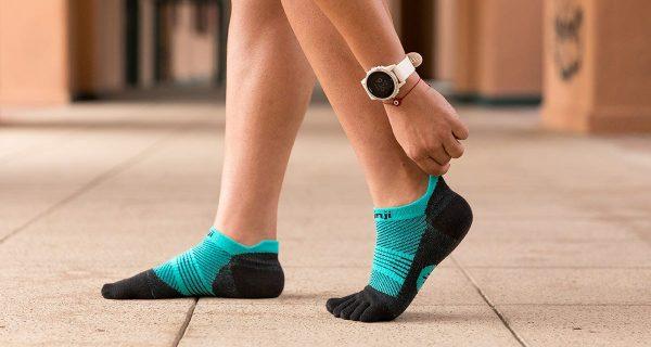 Injinji Womens RUN Lightweight No-Show Running Toe Socks (Jewel) - Lifestyle