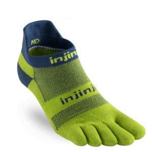 Injinji RUN Midweight No Show Running Toe Socks (Pistachio)