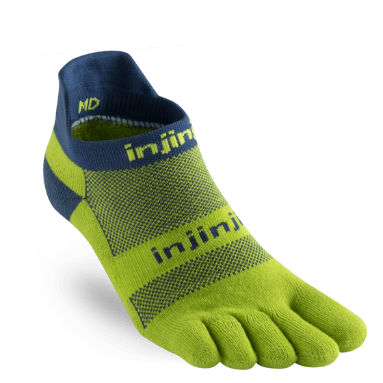 Injinji RUN Midweight No Show Running Toe Socks (Pistachio)
