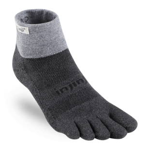 Injinji Trail Midweight Mini-Crew Running Toe Socks (Granite)