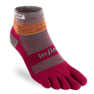 Injinji Trail Midweight Mini-Crew Running Toe Socks (Jewel)