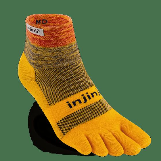 Injinji Trail Midweight Mini-Crew Running Toe Socks (Marigold)