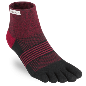 Injinji Womens Trail MidWeight Mini-Crew Running Toe Socks (Ember)