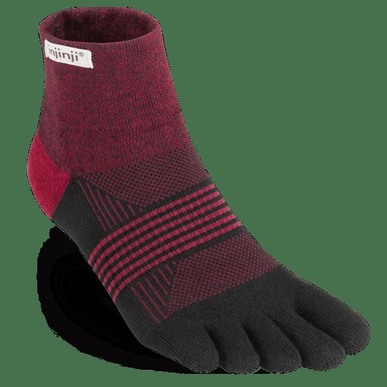 Injinji Womens Trail MidWeight Mini-Crew Running Toe Socks (Ember)
