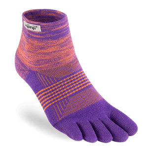 Injinji Womens Trail Mid-Weight Mini-Crew Running Toe Socks (Jupiter)
