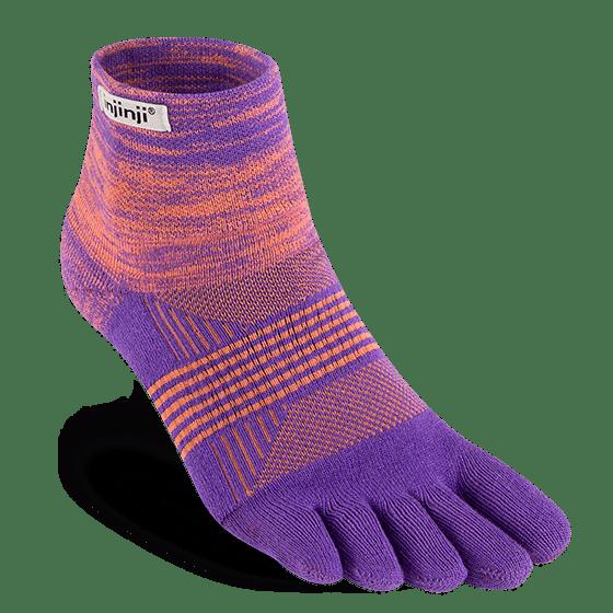 Injinji Womens Trail Mid-Weight Mini-Crew Running Toe Socks (Jupiter)