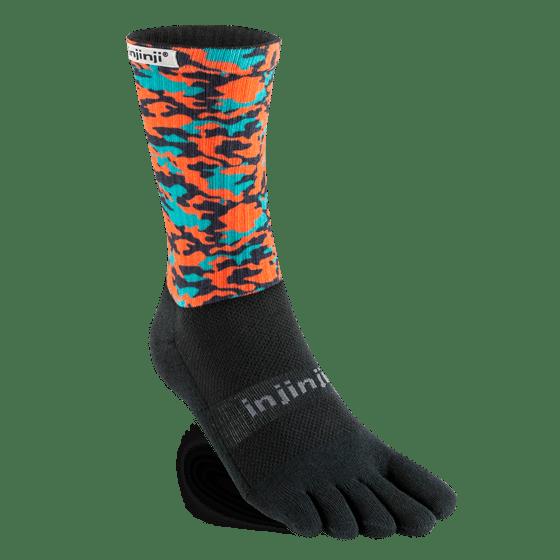 Injinji Trail Crew Midweight Running Toe Socks (Camo)
