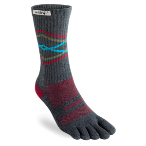 Injinji Trail Crew Midweight Running Toe Socks (Peak)