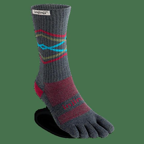 Injinji Trail Crew Midweight Running Toe Socks (Peak)