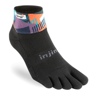 Injinji Trail Midweight Mini-Crew Running Toe Socks (Fences)