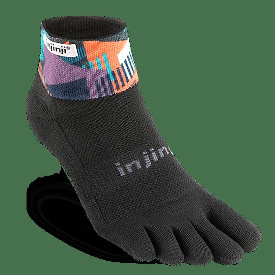 Injinji Trail Midweight Mini-Crew Running Toe Socks (Fences)