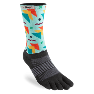 Injinji Womens Trail Midweight Crew Toe Socks (Legend)