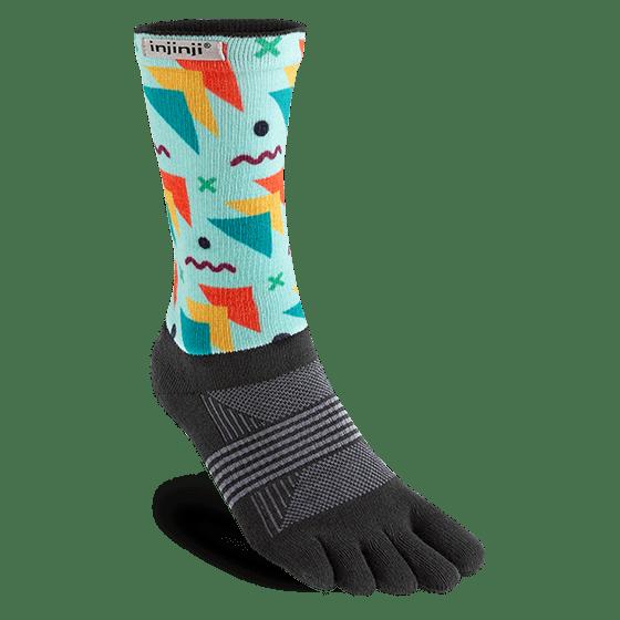 Injinji Womens Trail Midweight Crew Toe Socks (Legend)
