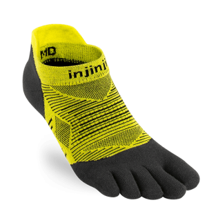 Injinji RUN Lightweight No-Show Running Toe Socks (Limeade)