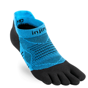 Injinji RUN Lightweight No-Show Running Toe Socks (Malibu)