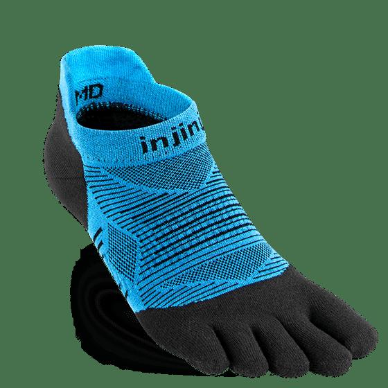 Injinji RUN Lightweight No-Show Running Toe Socks (Malibu)