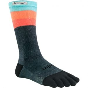 Injinji RUN Lightweight Crew Running Toe Socks (Ascent)