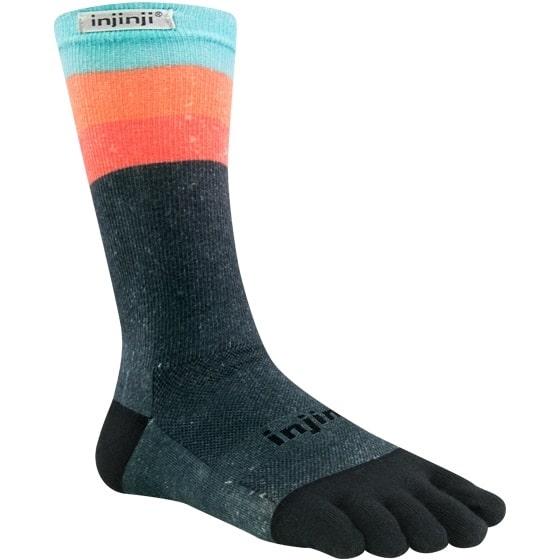 Injinji RUN Lightweight Crew Running Toe Socks (Ascent)