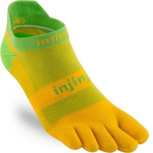 Injinji RUN Lightweight No-Show Running Toe Socks (Mango)