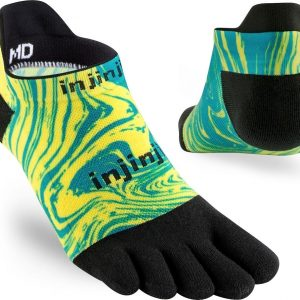 Injinji RUN Lightweight No-Show Running Toe Socks (Marble)