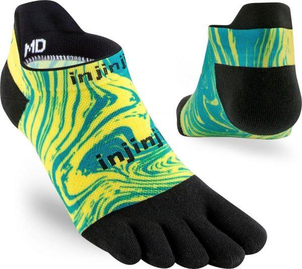 Injinji RUN Lightweight No-Show Running Toe Socks (Marble)