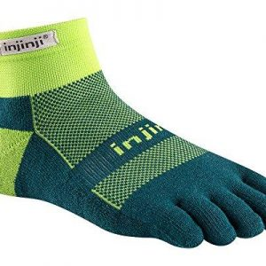 Injinji RUN Midweight Mini-Crew Running Toe Socks (Chive)